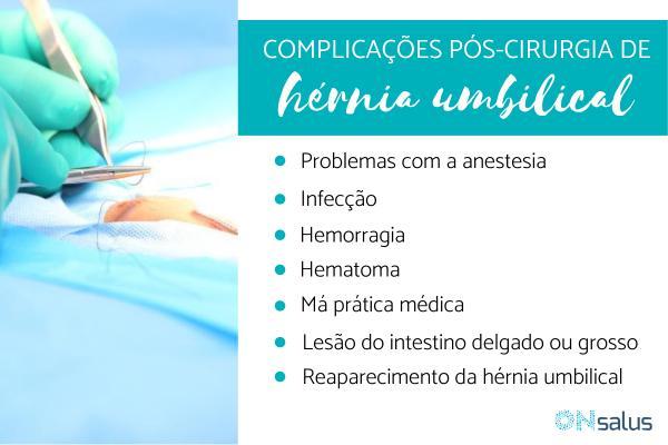Complicações pós-cirurgia de hérnia umbilical