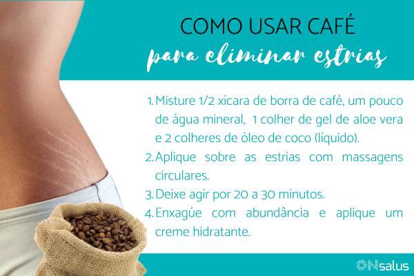 Como usar borra de café para estrias