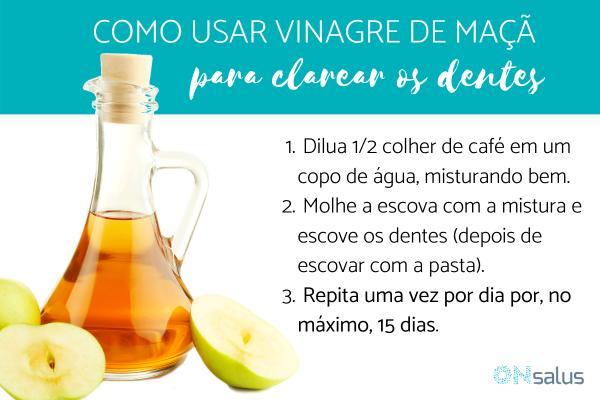 Vinagre de maçã para clarear os dentes: como usá-lo
